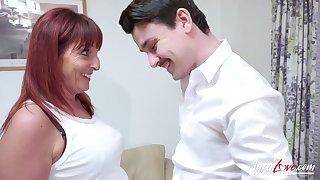AgedLovE Adult Lady Riding Youngster Cock Hard