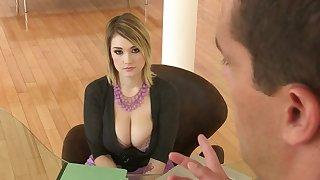 Big tits MILF Miss Lonelyhearts hard fuck