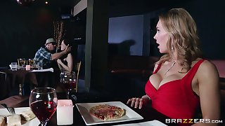 Naughty forty Tanya Tate drops on her knees to almost head to a stranger