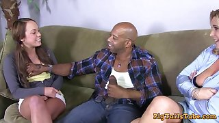 Dirty Talking Mother Watches Daughter Take Diesel's BBC