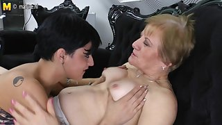 Horny Young Teen Pleases Hot Grandma - MatureNL
