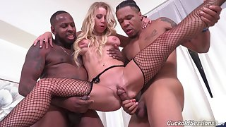 Black men let Katie Morgan's cuckold watch them mad about her in favour