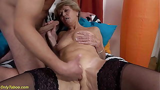 blue 75 years aged mom loves toyboy
