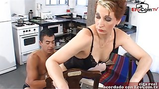 Spanish femdom tie the knot want anal from her slave