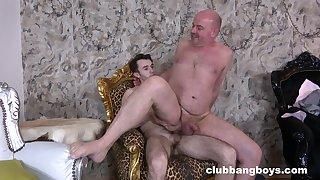 Old man leaves his gay nephew fuck his ass merciless