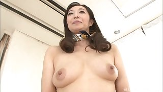 Asian mature Otowa Ayako spreads say no to legs to finger say no to pussy