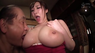 Asian Curvy Young Lady Fucks With Aged Geezer