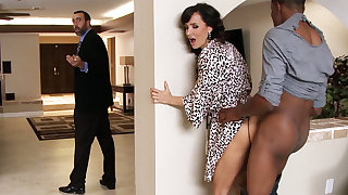 Spouse returned when housewife rails BIG Hyacinthine COCK