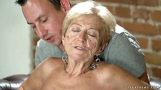 Censorious granny Malya has an affair helter-skelter young dude living nextdoor