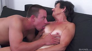 Mature amateur adores hard sexual relations everywhere her young darling in many poses