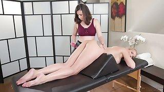 Marvelous svelte lesbian masseuse Casey Calvert desires to enjoy knead