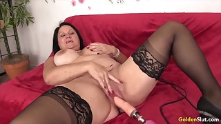 Golden Slut - Mature Women Getting Railed by Fucking Machines Compilation 5