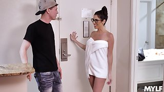 Dava Foxx beside nerdy glasses while acquiring the good dick she needed