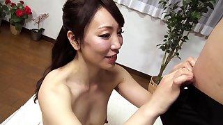 Subtitled notions Japanese unpaid double handjob blowjob