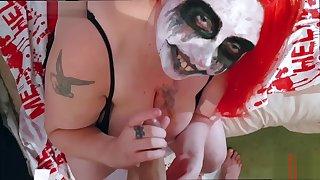 Halloween 2019 BlowJob BBW big tits cum in mouth