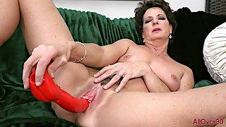 horny Granny Beth Mckenna solo film over