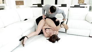 A remarkable anal shag with a precise woman