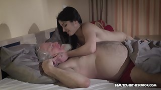 Young wifey Emily Brix is craving for sexual connection with grey husband early in the morning